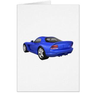 Viper Hard-Top Muscle Car: Blue Finish Card