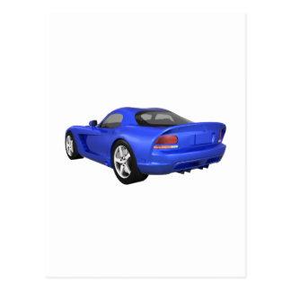 Viper Hard-Top Muscle Car: Blue Finish Postcard