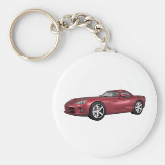 Viper Hard-Top Muscle Car: Candy Apple: Keychain