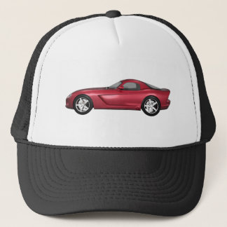 Viper Hard-Top Muscle Car: Candy Apple: Trucker Hat