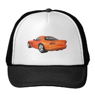 Viper Hard-Top Muscle Car: Orange Finish Trucker Hat