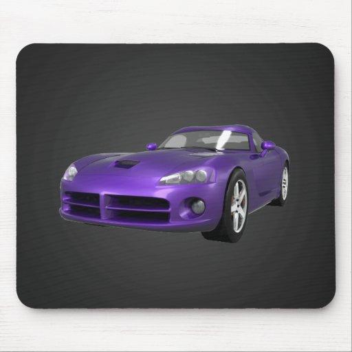 Viper Hard-Top Muscle Car: Purple Finish: Mousepad