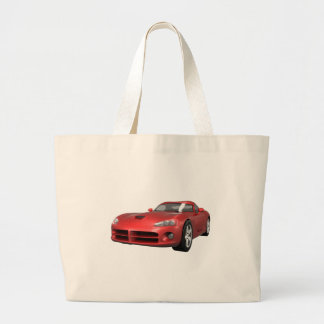 Viper Hard-Top Muscle Car Red Finish Tote Bags