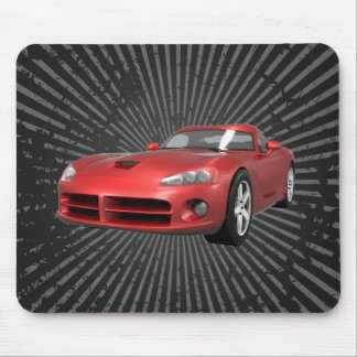 Viper Hard-Top Muscle Car: Red Finish: Mousepad