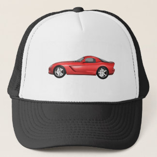 Viper Hard-Top Muscle Car: Red Finish Trucker Hat