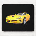 Viper Hard-Top Muscle Car: Yellow Finish: Mouse Pad