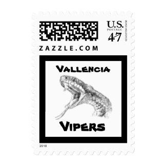 Viper Snake School Mascot Postage Stamp