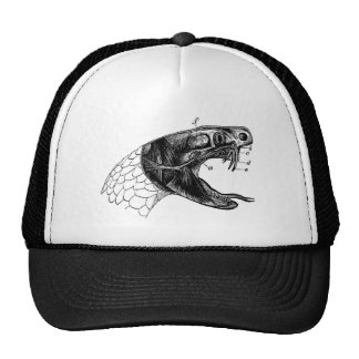 viper snake vintage illustration trucker hat