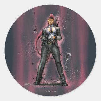 Viper Standing Classic Round Sticker