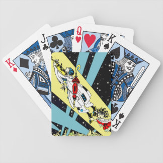 Viperetta Flies to the Moon Bicycle Playing Cards