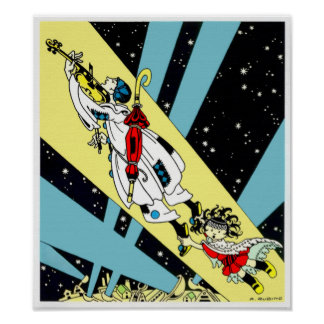 Viperetta Flies to the Moon Posters