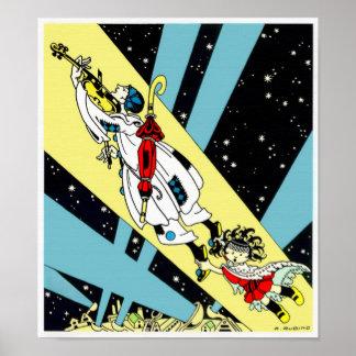 Viperetta vuela a la luna póster