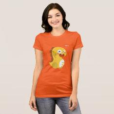 Vipkid Cutie Dino T-shirt (orange) at Zazzle