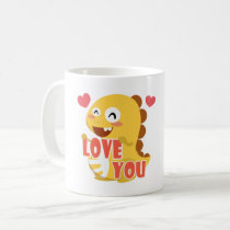 VIPKID Fall in Love Dino Mug