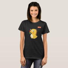 Vipkid Rose Dino T-shirt at Zazzle