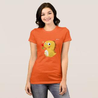 VIPKID Rose Dino T-Shirt (orange)
