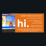 """VIPKID Teacher Referral / Recruitment Flier Rack Card<br><div class=""""desc"""">VIPKID Teachers - this 4x8&quot; recruitment flier is thick,  glossy,  and the perfect size for bulletin boards and standard envelopes.  Add your own picture of you teaching and your recruitment link in the template!</div>"""