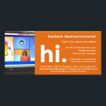 """VIPKID Teacher Referral / Recruitment Flier Rack Card<br><div class=""""desc"""">VIPKID Teachers - this 4x8"""" recruitment flier is thick,  glossy,  and the perfect size for bulletin boards and standard envelopes.  Add your own picture of you teaching and your recruitment link in the template!</div>"""