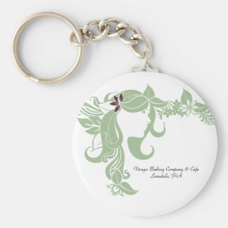 Virago Green Lady Logo Keychain