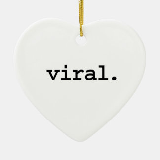 viral. Double-Sided heart ceramic christmas ornament