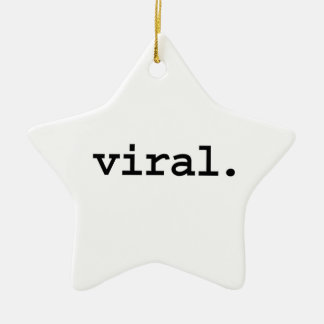viral. Double-Sided star ceramic christmas ornament