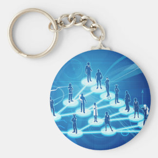 Viral Marketing Business Concept Keychain