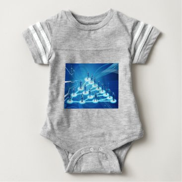 Viral Marketing Business Network Concept Baby Bodysuit