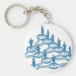 Viral Marketing Business Network Concept Keychain