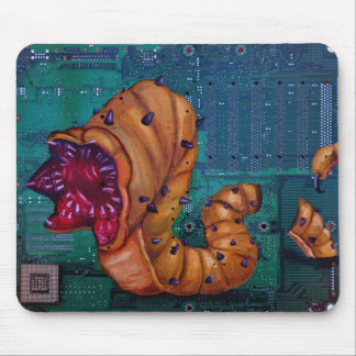 Viral Worm Mouse Pad