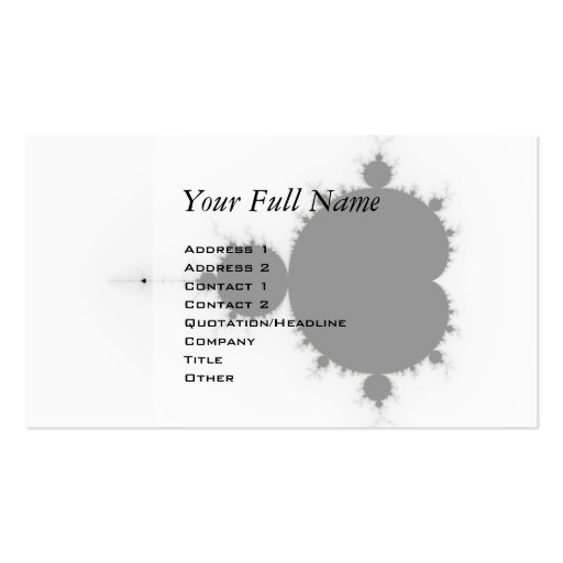 Viratarupa - arte del fractal tarjetas personales