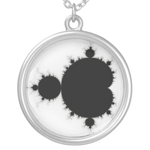 Viratarupa - Fractal Art Round Pendant Necklace