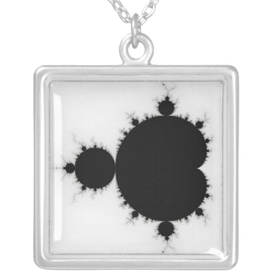 Viratarupa - Fractal Art Silver Plated Necklace