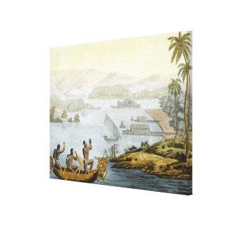 Vire Dury hacia el lado de babor, platee 75 de 'Le Impresiones En Lienzo Estiradas