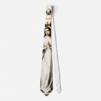 Virgen bendecida corbatas