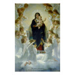 Virgen con ángeles - William-Adolphe Bouguereau Póster