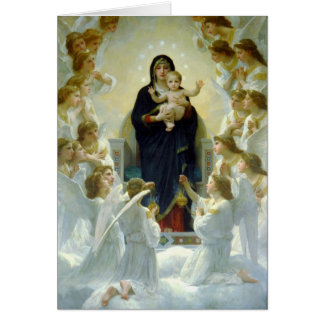 Virgen con ángeles - William-Adolphe Bouguereau Tarjeta De Felicitación