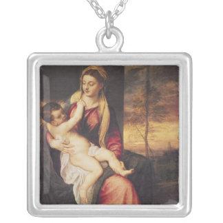 Virgen con el niño en la puesta del sol, 1560 colgante cuadrado