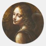 Virgen de da Vinci de los pegatinas del ángel de Pegatina Redonda