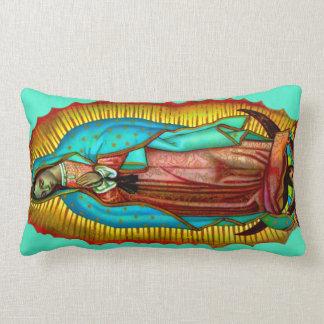 Virgen de Guadalupe Almohada oracion Salve Regina Throw Pillow