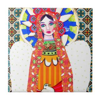 Virgen de Guadalupe Azulejo Cuadrado Pequeño