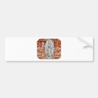 VIRGEN DE GUADALUPE  BYW  LADRILLO CUSTOMIZABLE BUMPER STICKER