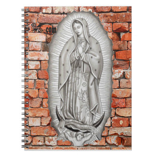 VIRGEN DE GUADALUPE BYW LADRILLO CUSTOMIZABLE SPIRAL NOTEBOOKS