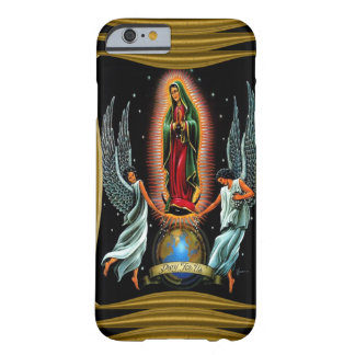 Virgen de Guadalupe (con ángeles) Funda De iPhone 6 Barely There