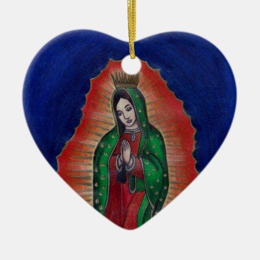 Virgen de Guadalupe Ornamento Para Arbol De Navidad