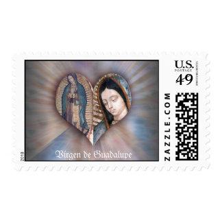 Vírgen de Guadalupe los E.E.U.U. POSTAL por DIvina Franqueo