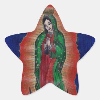 Virgen de Guadalupe Pegatina En Forma De Estrella