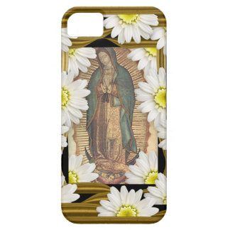 Virgen de Guadalupe (with daisies) iPhone SE/5/5s Case
