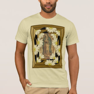 Virgen de Guadalupe (with daisies) T-Shirt