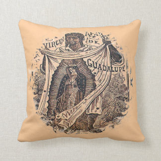 Virgen de Guadalupe with Juan Diego Throw Pillow