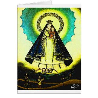 VIRGEN DE LA CARIDAD GREETING CARD
